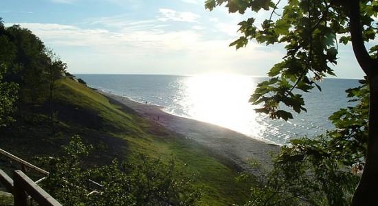 jastrzębia góra plaże klif miejscowości nad morzem